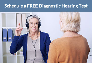Schedule a FREE diagnostic hearing test